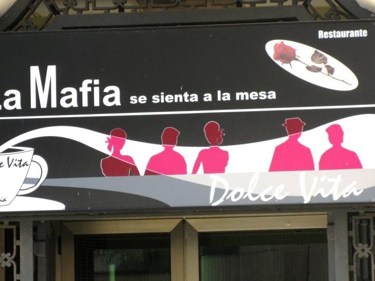 Cartel de fachada para cafetería DOLCE VITA